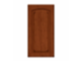 Solid PWC6  Arch Burnished Cinnamon Raised Panel