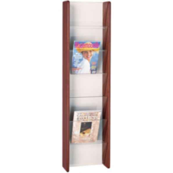 7 Pocket High Magazine Rack with Clear Acrylic Front Panels