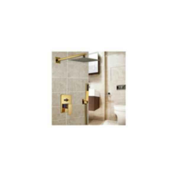 Fontana Brass Gold Tone Shower Set