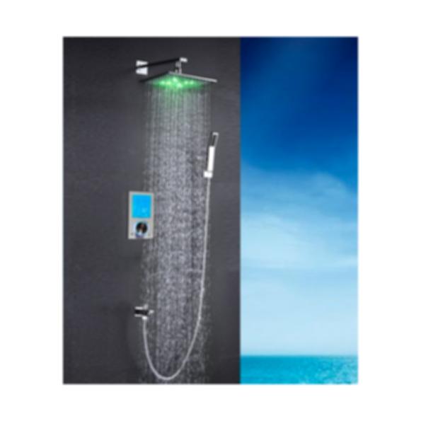 Flavia Digital Color Changing LED Rainfall Shower Set