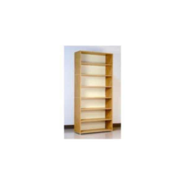 Natural Oak Finish Open Shelf Cabinet