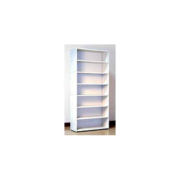 Folkstone Gray Open Shelf Cabinet