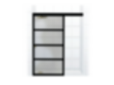 GRIDSCAPE™ Series Full Divided-Light Sliding Splash Screen Shower Door