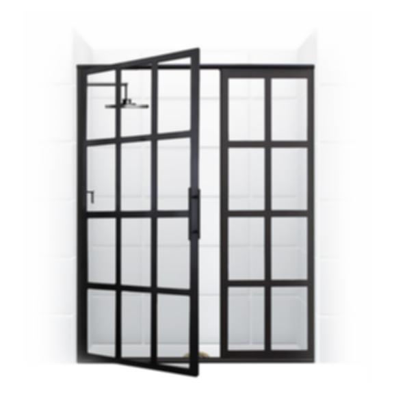 True Divided-Light Swing Shower Door