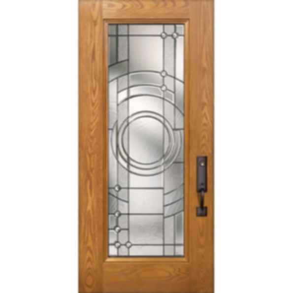 Oak Grain Flush Panel Doors