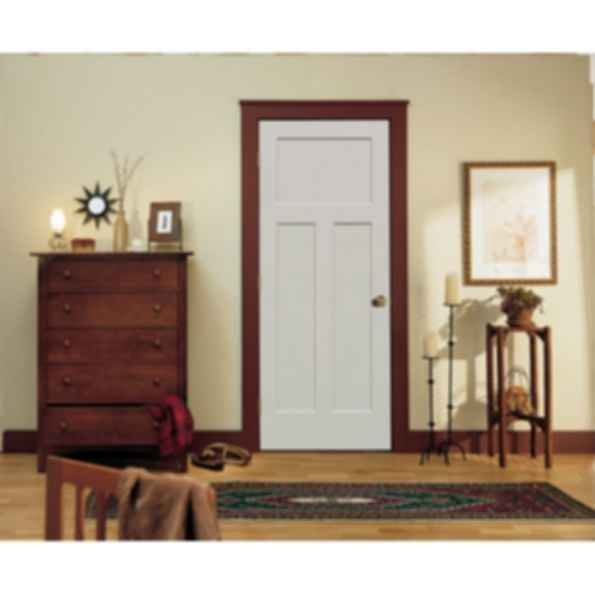Molded 1 Panel Shaker Smooth Square Doors