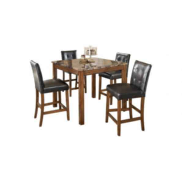 Theo Square Counter Table And Bar Stools Modlar Com