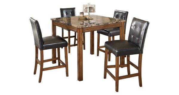Theo Square Counter Table And Bar Stools Modlar Com