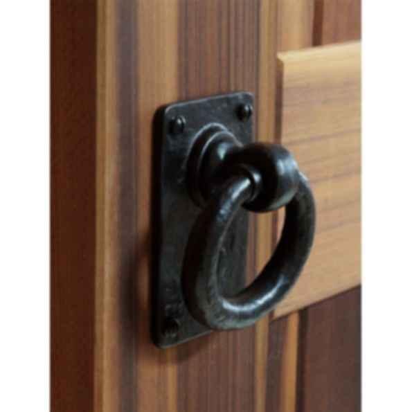 Cast Iron 4.5'' Ring Pull Door & Gate Handle