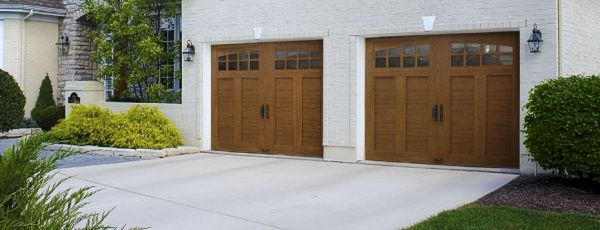 Custom Crafted Wood Look 4 Layer Garage Door Modlar Com