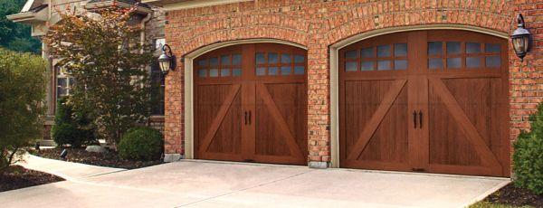 Custom crafted wood look 5 layer garage door for Composite garage doors that look like wood