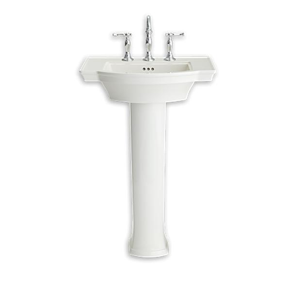 Estate Pedestal Bathroom Sink With 4 Inch Centers Modlar Com