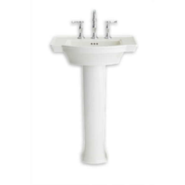 Estate Pedestal Bathroom Sink With 8 Inch Centers Modlar Com
