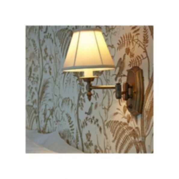 One Light Swing Arm Sconce with Electric Candle