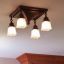 "Golden Gate™ Four Light Chain Link Ceiling Fixture with 2-1/4"" Shade Holders"