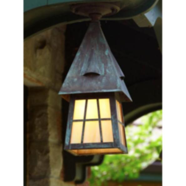 "European Country™ Lantern 6"" Wide Semi Flush Exterior Ceiling Light"
