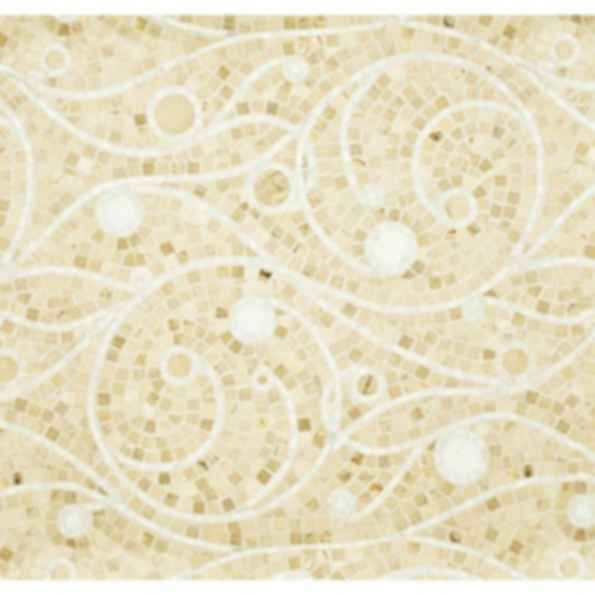 Horta Creme Polished Stone Mosaic Tile