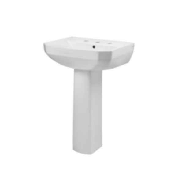 "Viper® 8"" Centers Petite Pedestal Bathroom Sink"