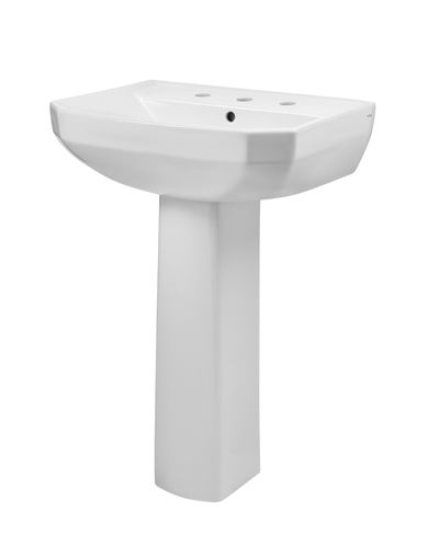 Viper 8 Centers Petite Pedestal Bathroom Sink