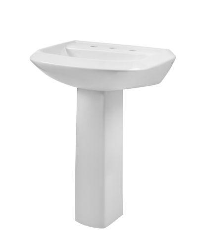 Avalanche 8 Centers Petite Pedestal Bathroom Sink