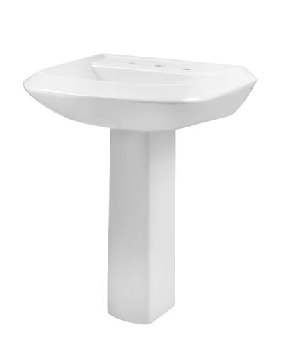 Avalanche 8 Centers Standard Pedestal Bathroom Sink