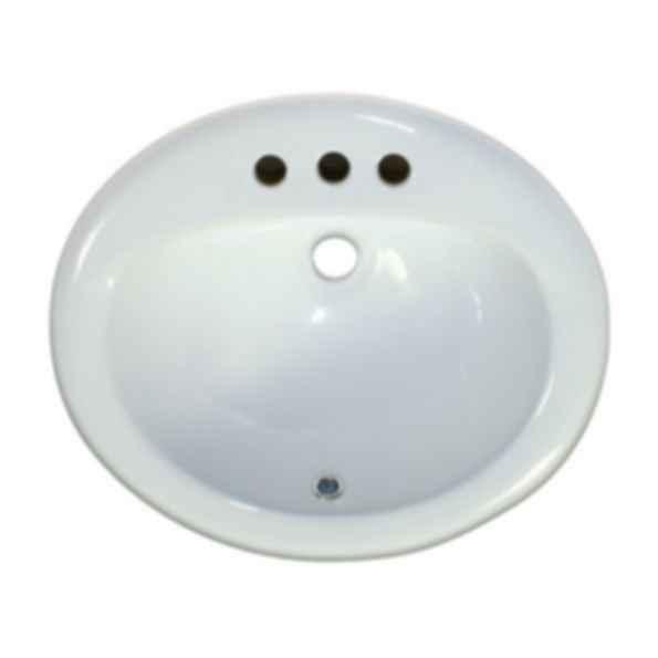 "PL-1011 4"" Spread Single Bowl Porcelain Sink"