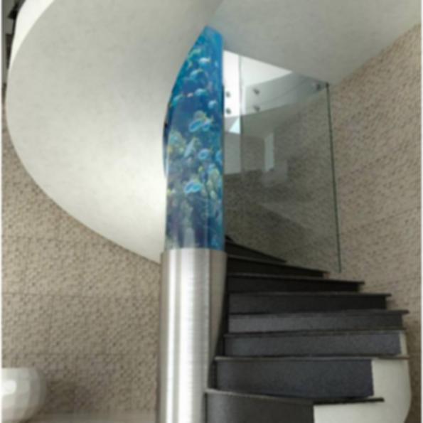 Aqua Helical Staircase