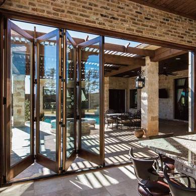 Architect Series 174 Traditional Wood Bifold Patio Door