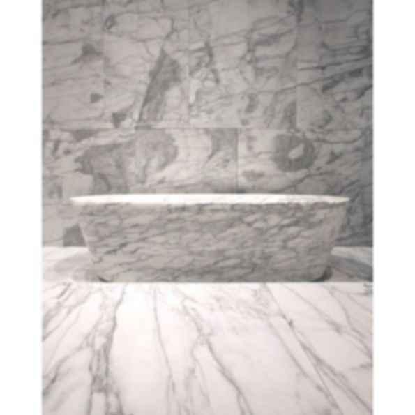 Banheira Ovale Carved Stone Marble Bath