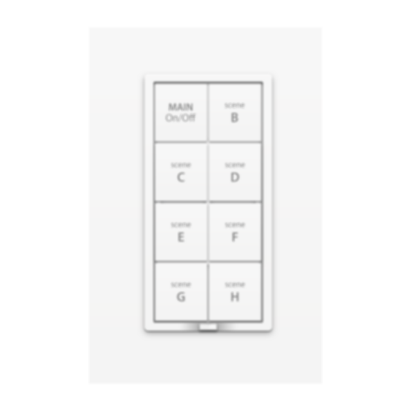 8-Button Dimmer Wall Keypad