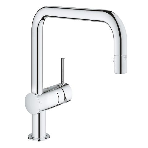 Grohe Minta Dual Spray Pull Out Kitchen Faucet