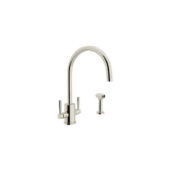 Perrin & Rowe Contemporary Single Hole C-Spout Kitchen Faucet