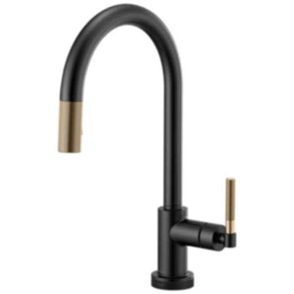 Litze™ SmartTouch® Pull-Down Faucet with Arc Spout and Knurled Handle 64043LF