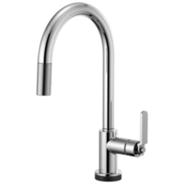 Litze™ SmartTouch® Pull-Down Faucet with Arc Spout and Industrial Handle 64044LF