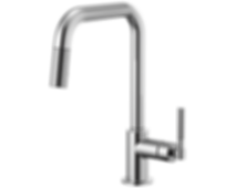 Litze™ Pull-Down Faucet with Square Spout and Knurled Handle 63053LF