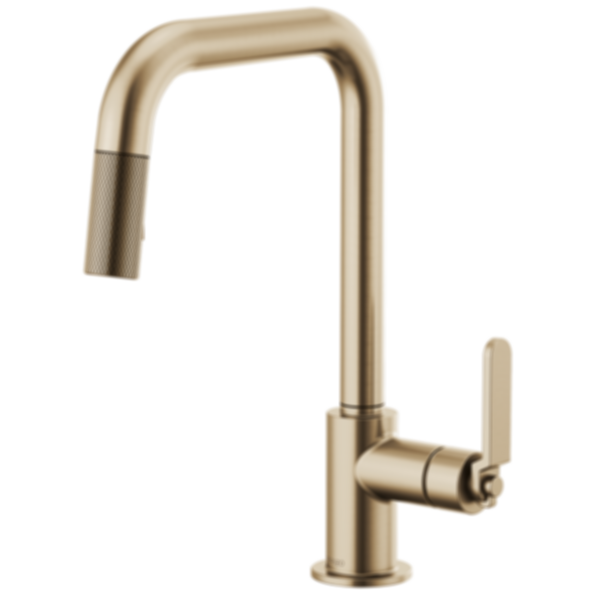 Litze™ Pull-Down Faucet with Square Spout and Industrial Handle63054LF