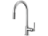 Litze™ Pull-Down Faucet with Arc Spout and Knurled Handle 63043LF