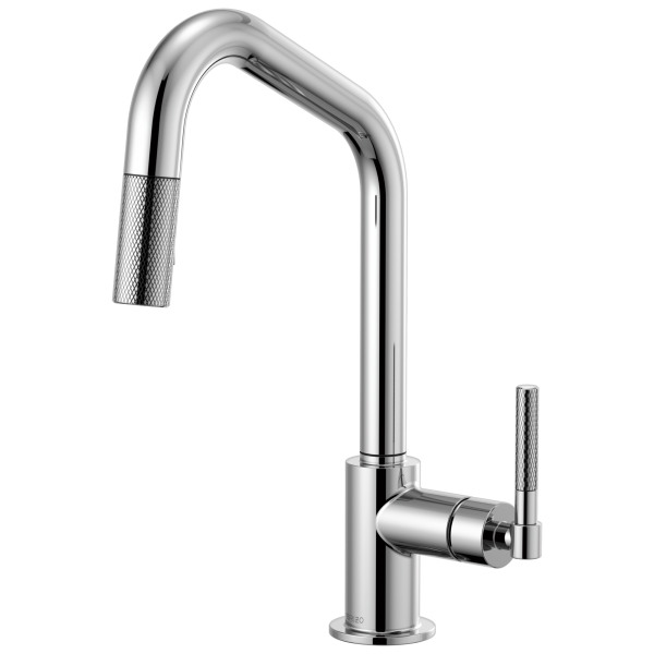 Litze Pull Down Faucet With Angled Spout And Knurled