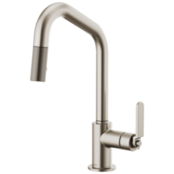 Litze™ Pull-Down Faucet with Angled Spout and Industrial Handle 63064LF