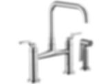 Litze™ Bridge Faucet with Square Spout and Industrial Handle 62554LF