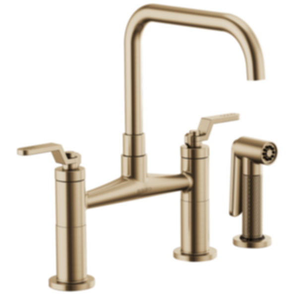 Litze™ Bridge Faucet with Square Spout and Industrial Handle 62554LF