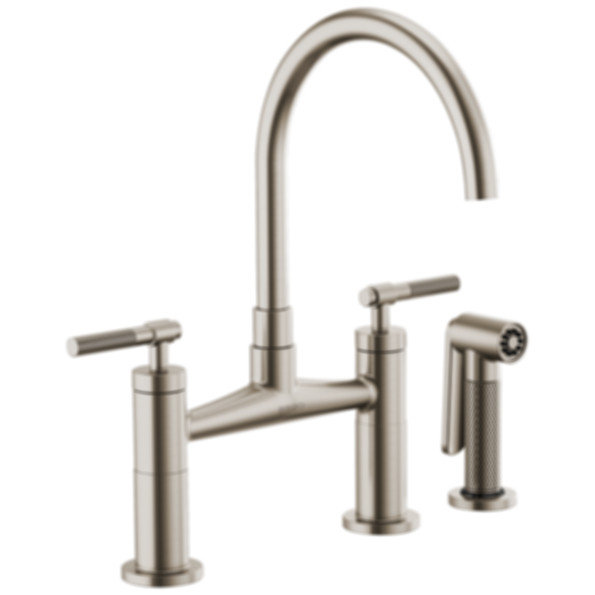Litze™ Bridge Faucet with Arc Spout and Knurled Handle 62543LF
