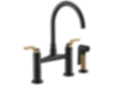 Litze™ Bridge Faucet with Arc Spout and Industrial Handle 62544LF