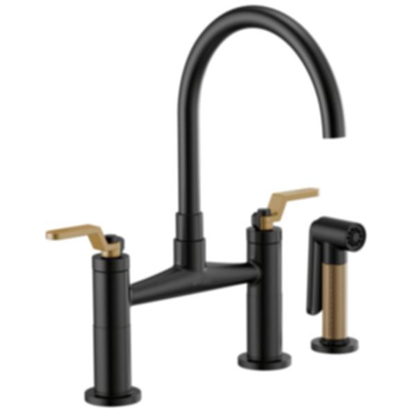 Litze™ Bridge Faucet with Arc Spout and Industrial Handle 62544LF