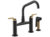 Litze™ Bridge Faucet with Angled Spout and Industrial Handle 62564LF
