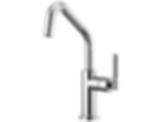 Litze™ Bar Faucet with Angled Spout and Knurled Handle 61063LF