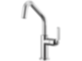 Litze™ Bar Faucet with Angled Spout and Industrial Handle 61064LF