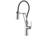 Litze™ Articulating Faucet with Industrial Handle 63244LF
