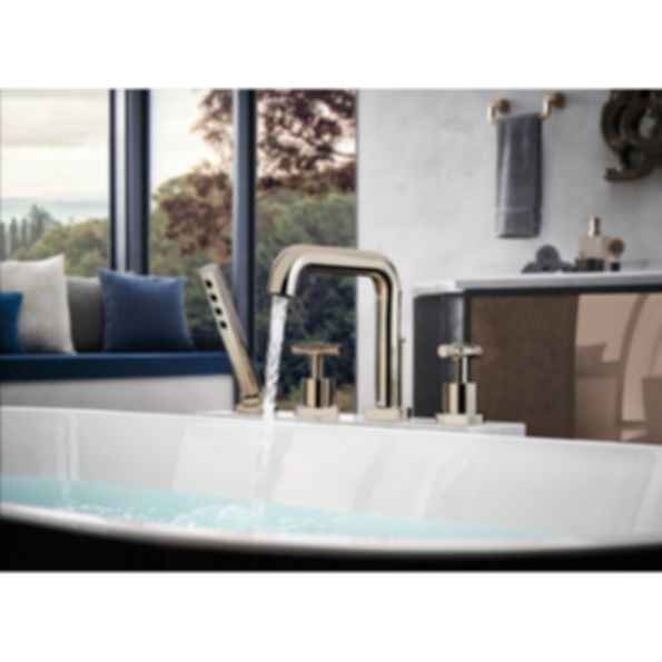 Litze™ Roman Tub with Handshower - Less Handles T67435-PCLHP--HL632-PC