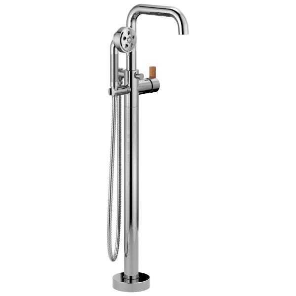 Litze Single Handle Freestanding Tub Filler Less Handle